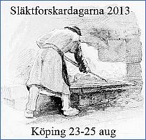 Släktforskardagarna 2013, Köping 23-25 aug