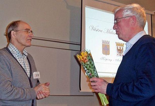 Åke  Dahlqvist, ordf., och Arne Hansson, avgående vice ordf.