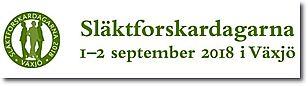Släktforskardagarna 1-2 sept 2018 i Växjö